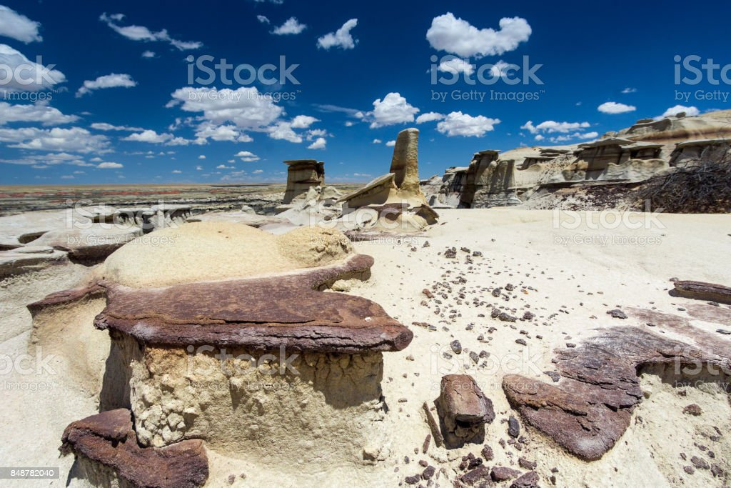 hoodoo rock formations in new mexico stock photo