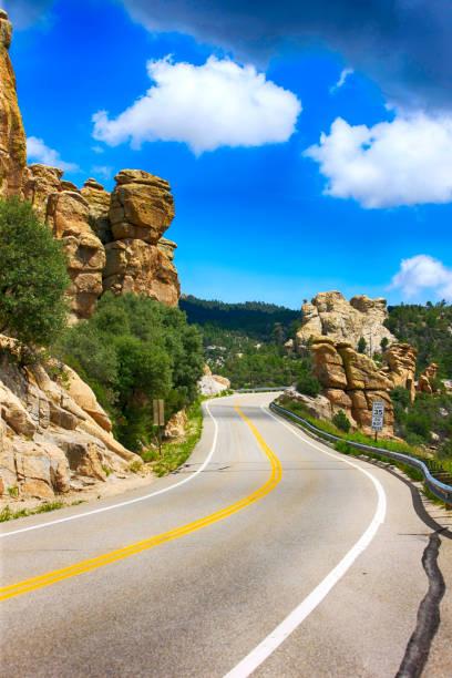 Hoodoo rock formations in the Mount Lemmon mountains of Arizona, USA stock photo