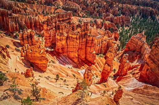 Natural stone arch formation at Bryce Canyon National Park, Utah
