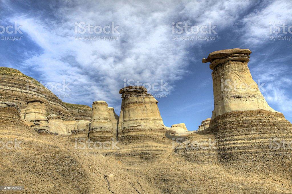 Hoodoos - Drumheller, Alberta stock photo