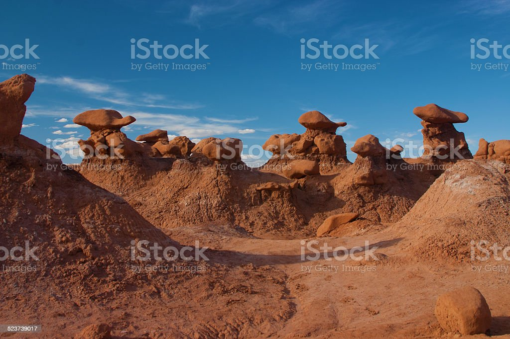 Hoodoos, Goblin Valley State Park, Utah stock photo