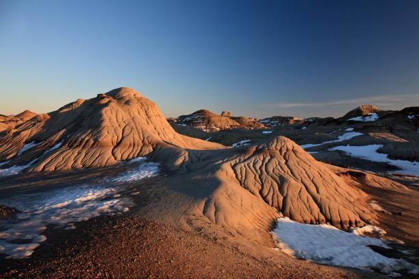 Hoodoos in Dinosaur Provincial Park Alberta stock photo