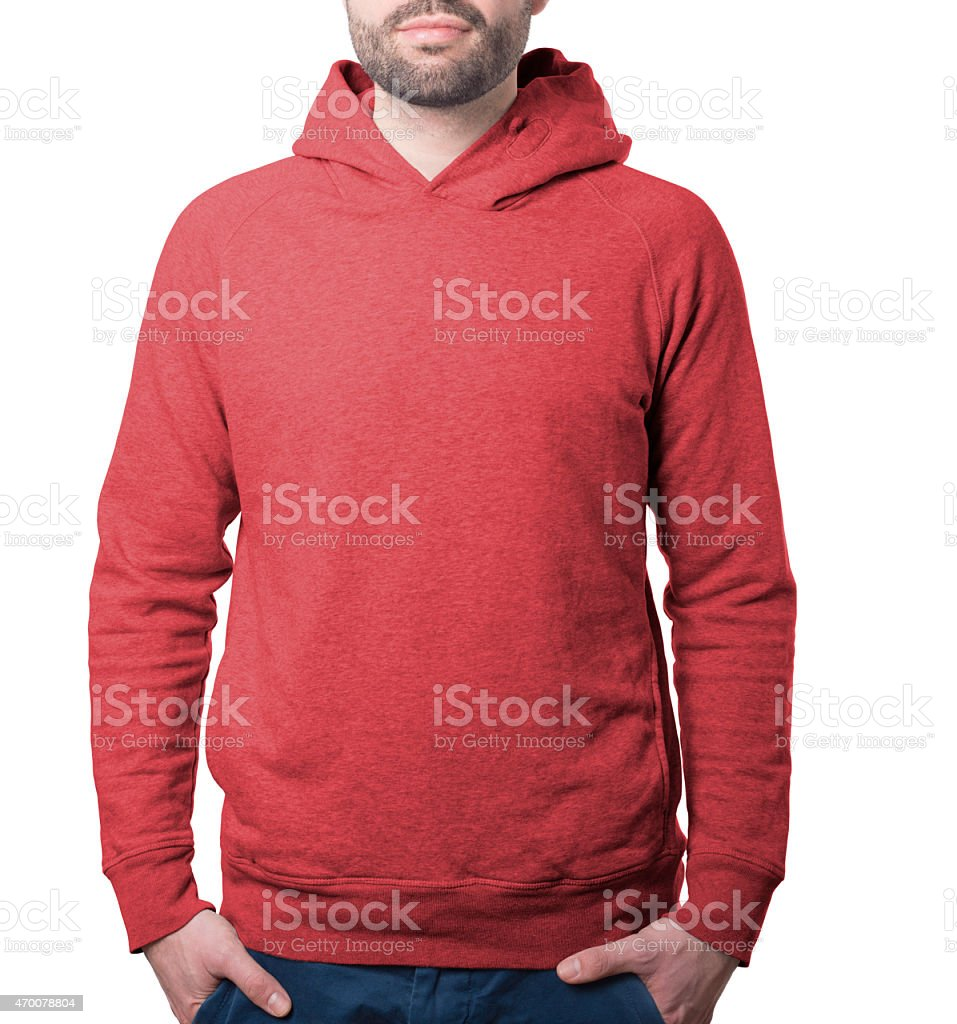 hoody clothing template stock photo