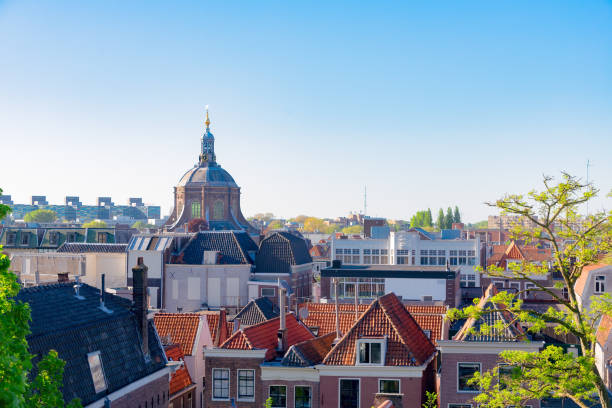 Hooglandse Kerk church in Netherlands old roofs of Leiden town, Holland Netherlands leiden stock pictures, royalty-free photos & images