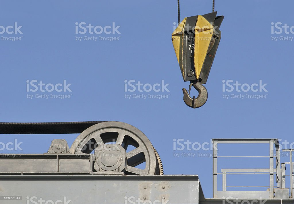 Hook and wheel-2 stock photo