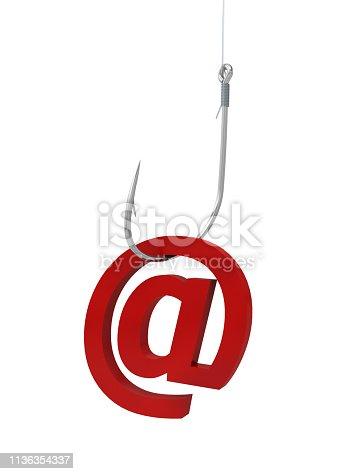 istock hook fishing email hacking criminal 1136354337
