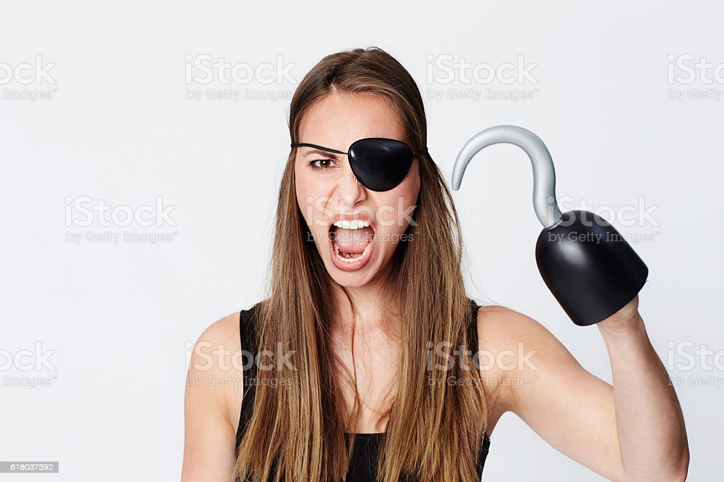 Hook for a hand pirate stock photo