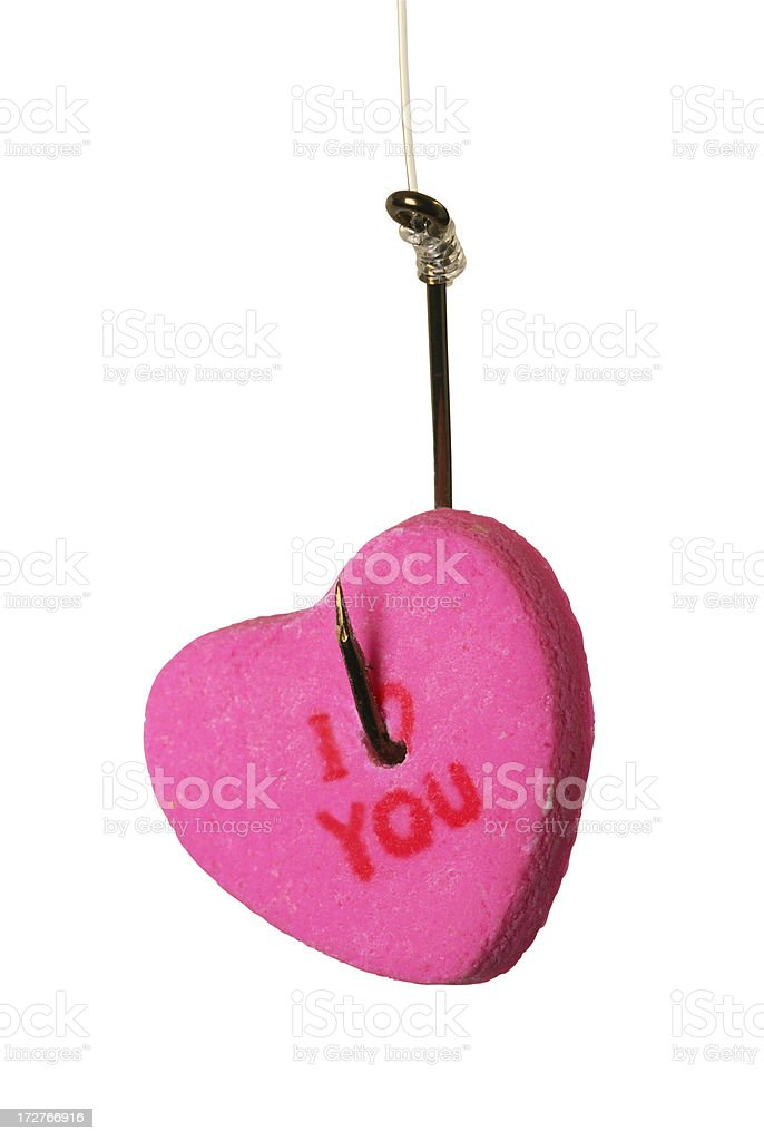 Hook in Heart royalty-free stock photo