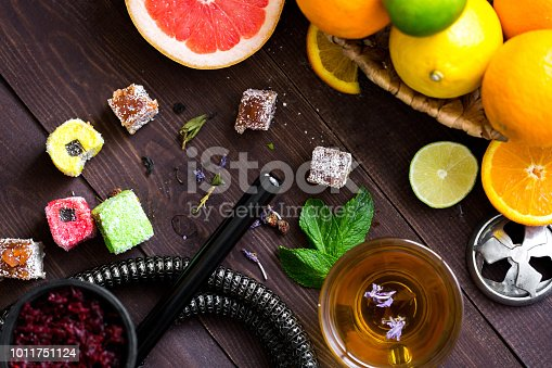 istock Hookah with smoke to relax and rest people. 1011751124