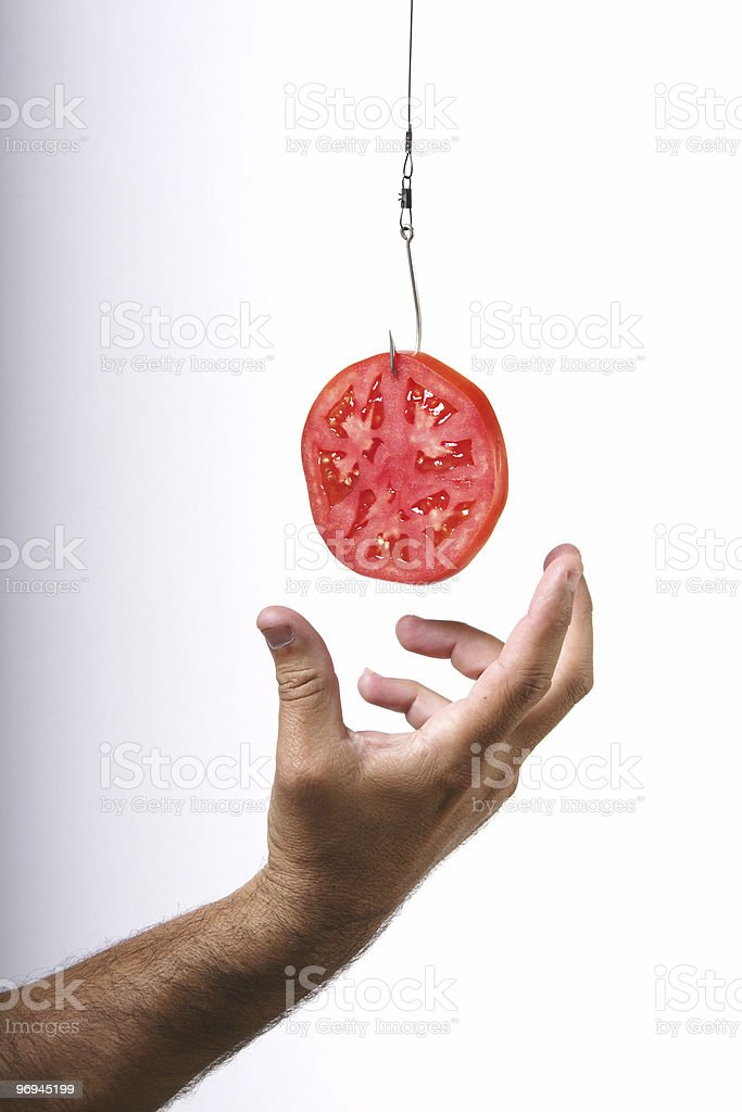 Hooked on diets royalty-free stock photo