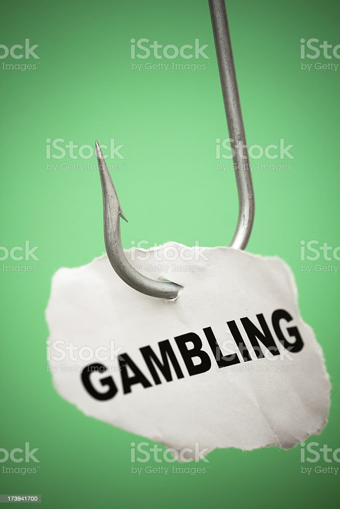 Hooked on gambling royalty-free stock photo