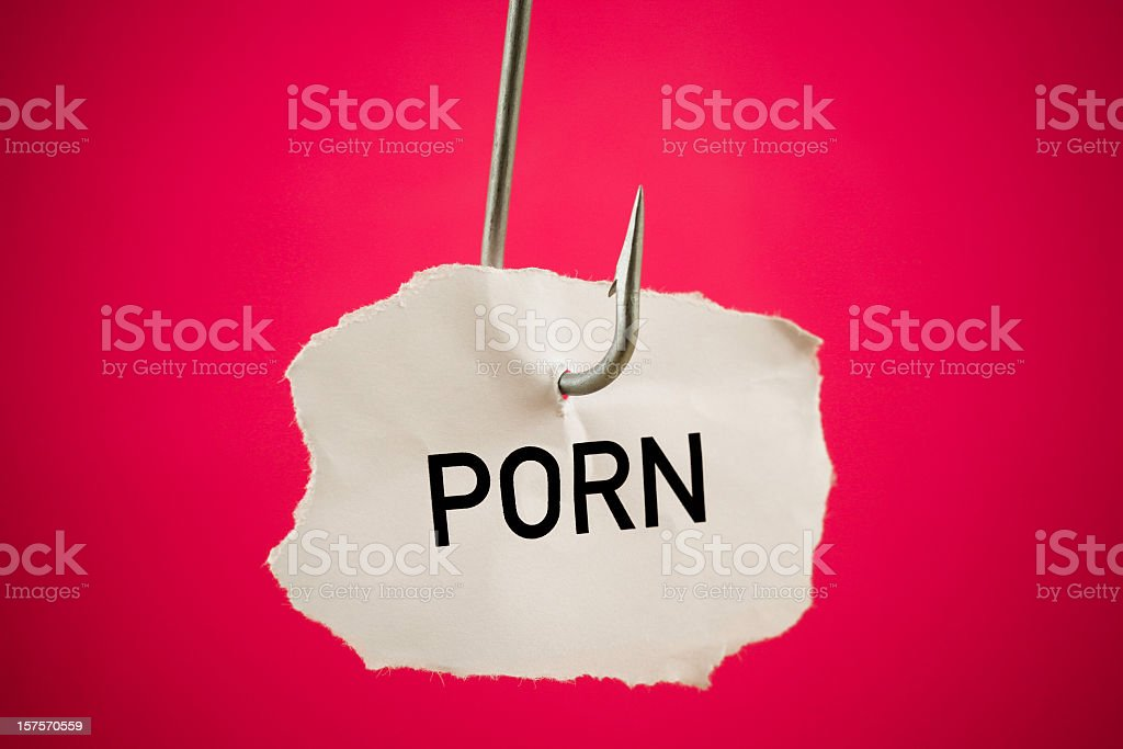 Hooked on porn royalty-free stock photo