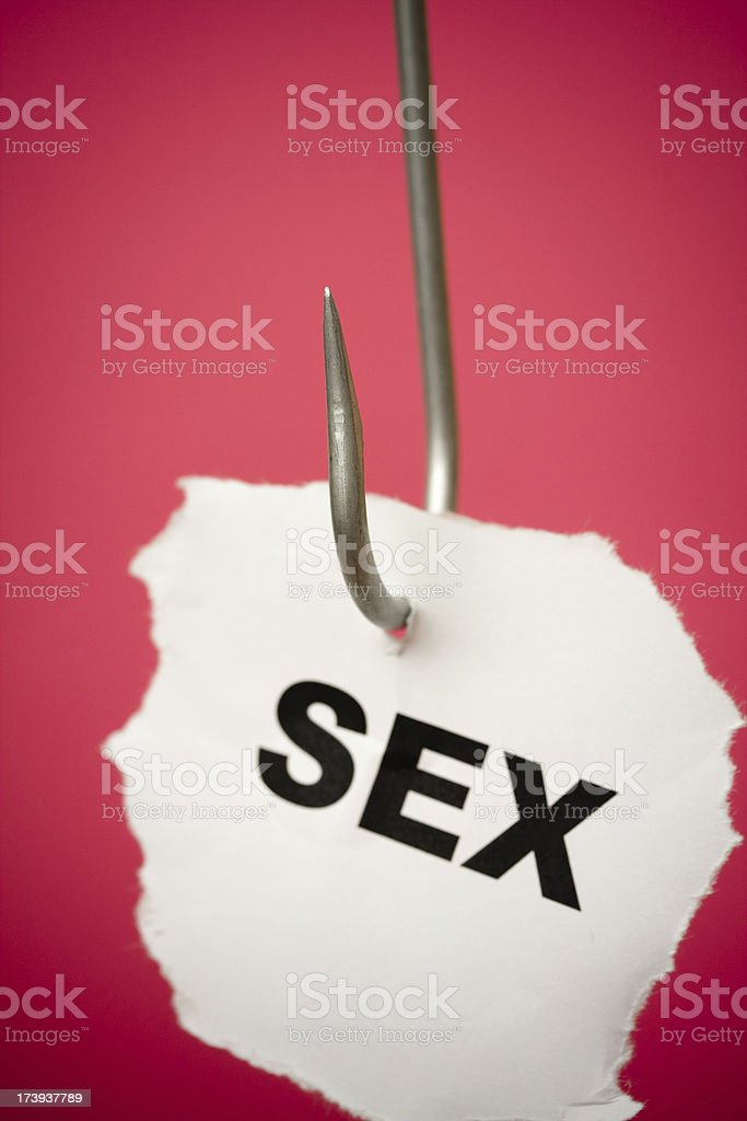 Hooked on sex royalty-free stock photo