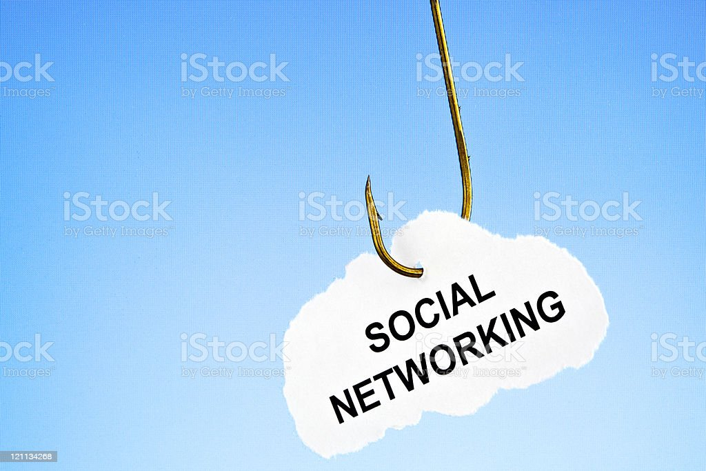 Hooked on social networking royalty-free stock photo