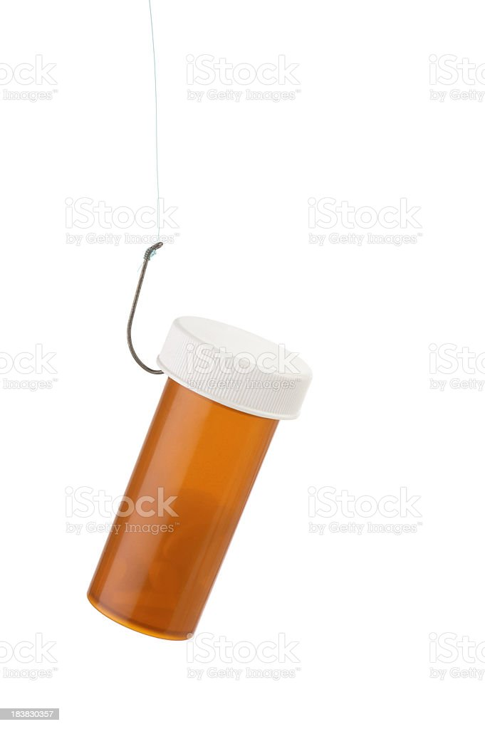 Hooked to Prescription Drugs stock photo