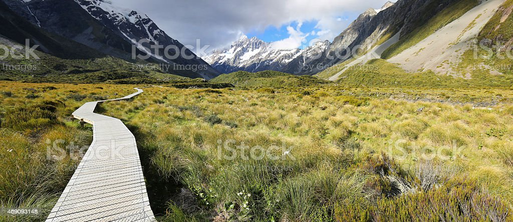 Hooker Valley Track - New Zealand stock photo