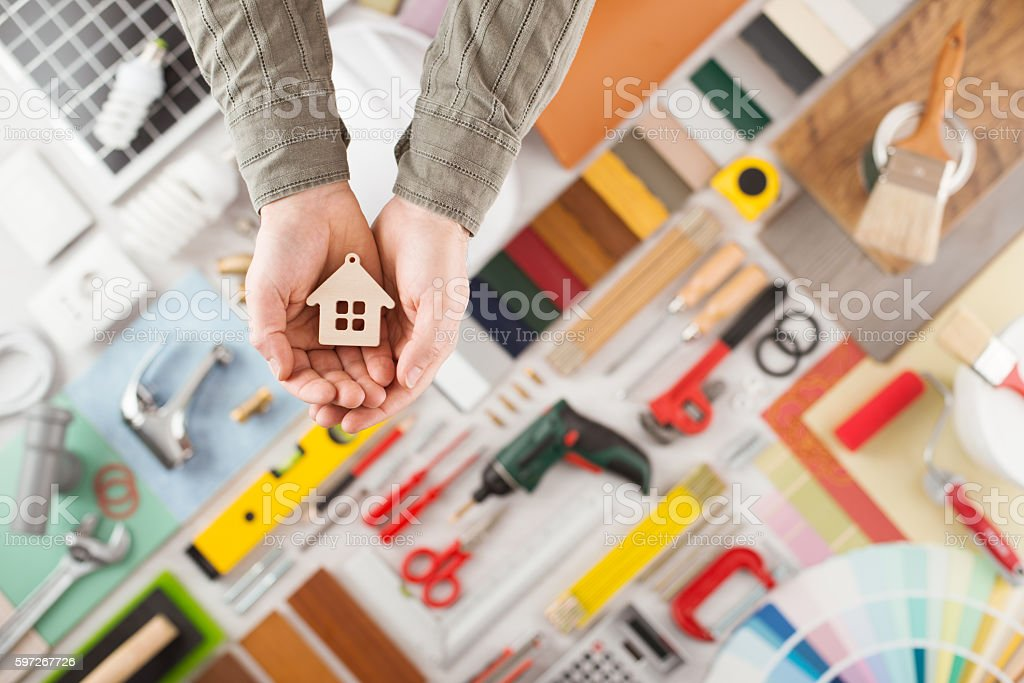 HoOme insurance - Foto stock royalty-free di Affari finanza e industria