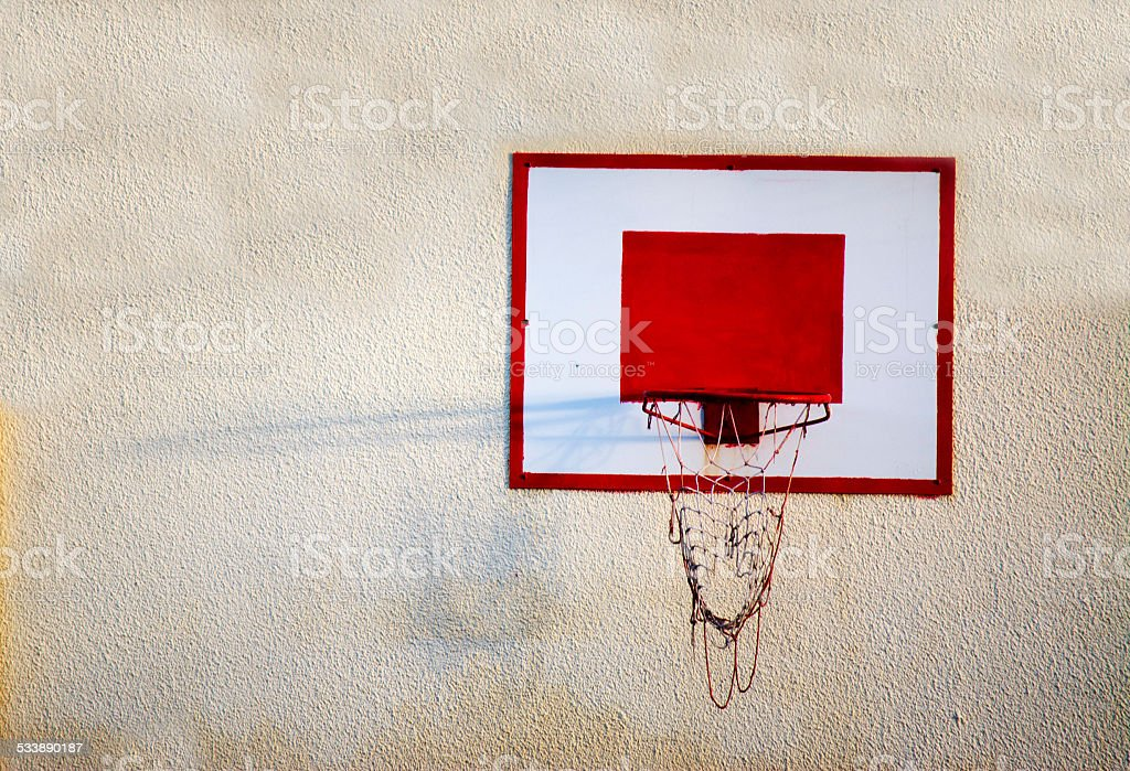 hoop on the wall stock photo