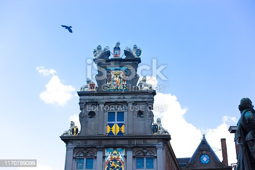Hoorn, North Holland, Netherlands: The ornate Westfries Museum in downtown Hoorn; it was formerly Hoorn's Town Hall, dating from 1632.