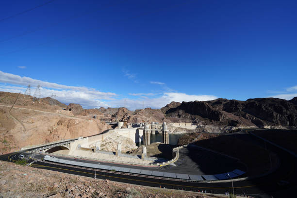 Hoover Dam and lake Mead Area stock photo