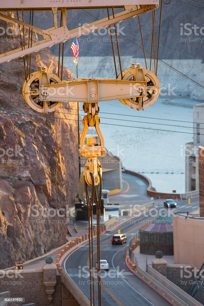 Hoover Dam at dawn stock photo