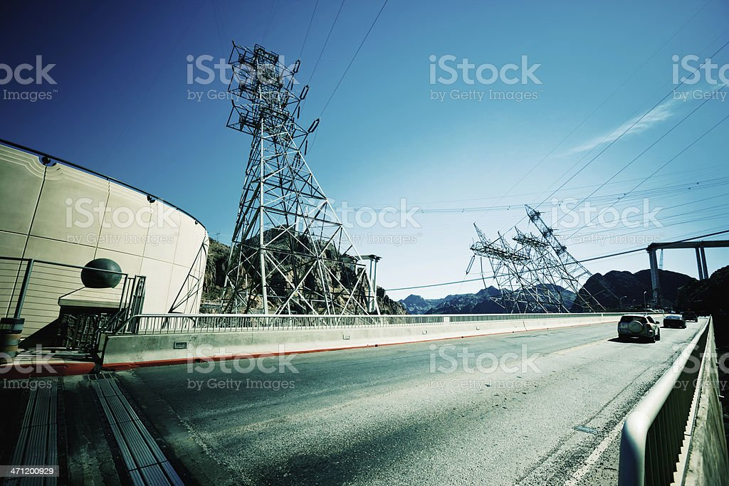 Hoover Dam Bridge USA Series 15 royalty-free stock photo