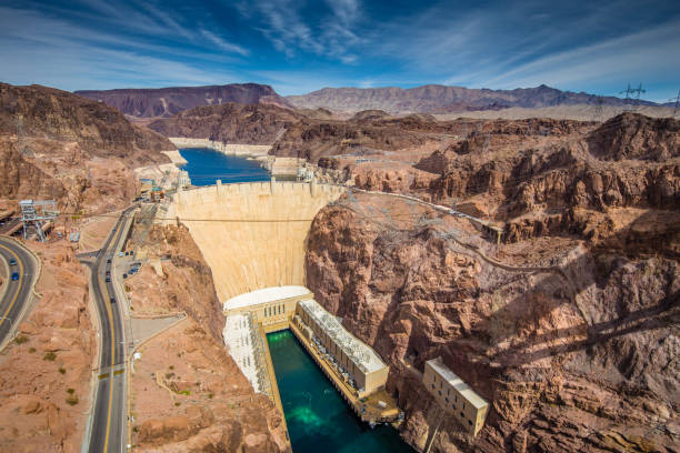hoover dam in summer, nevada, usa - clark county nevada stock pictures, royalty-free photos & images