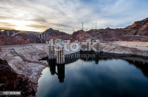 Hoover Dam,at Sunset