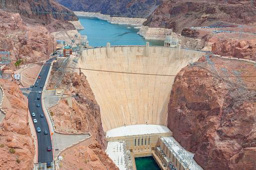 istock Hoover Dam on Arizona and Nevada border in United States of America. 1028187622