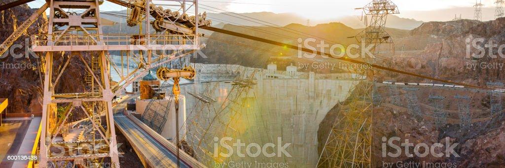 Hoover Dam Panorama stock photo