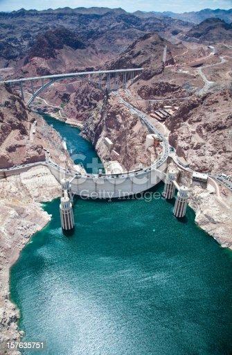 Hoover Dam on the Nevada & Arizona border