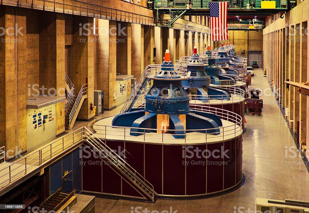 Hoover Dam Turbines stock photo