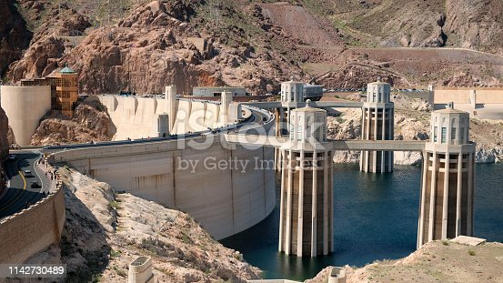 Hoover Dam with low water level