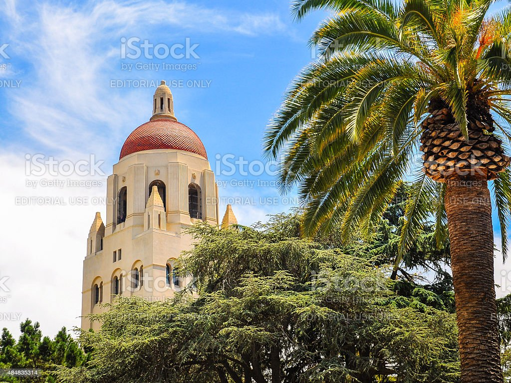 Hoover Tower, Stanford University - Palo Alto, CA stock photo