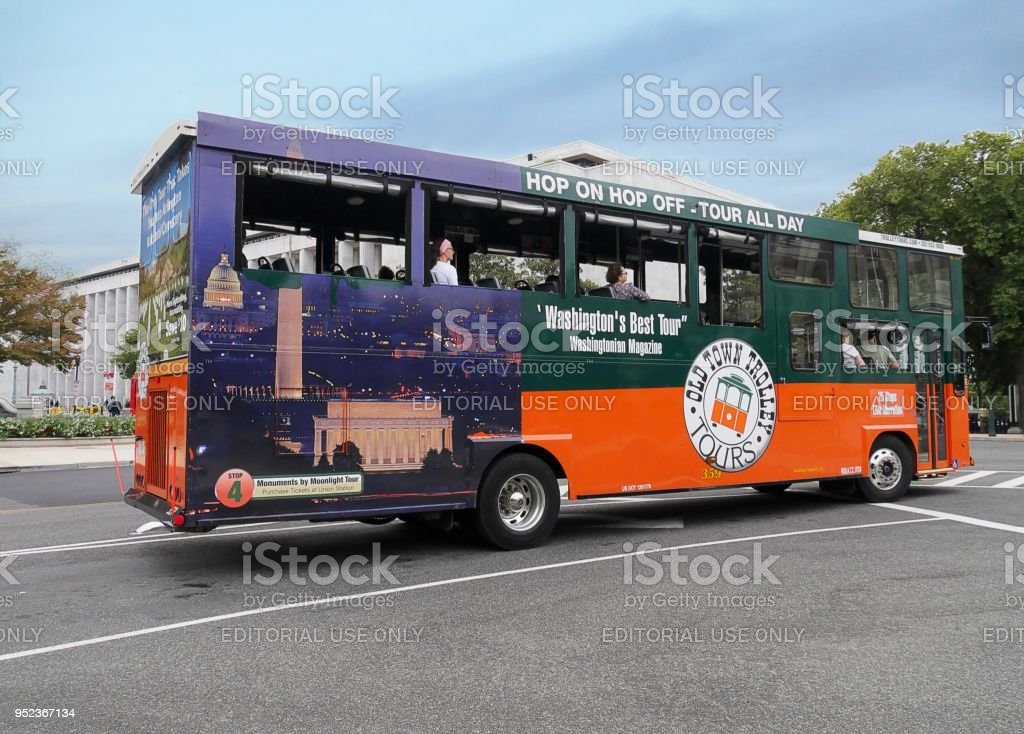 Washington Dc Tour Bus >> Hop On Hop Off Tour Bus In Washington Dc Stock Photo