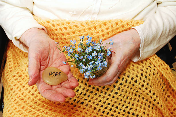 Hope and ForgetMeNot Flowers stock photo