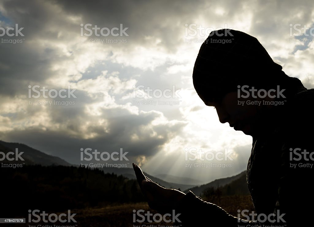 hope and pray stock photo
