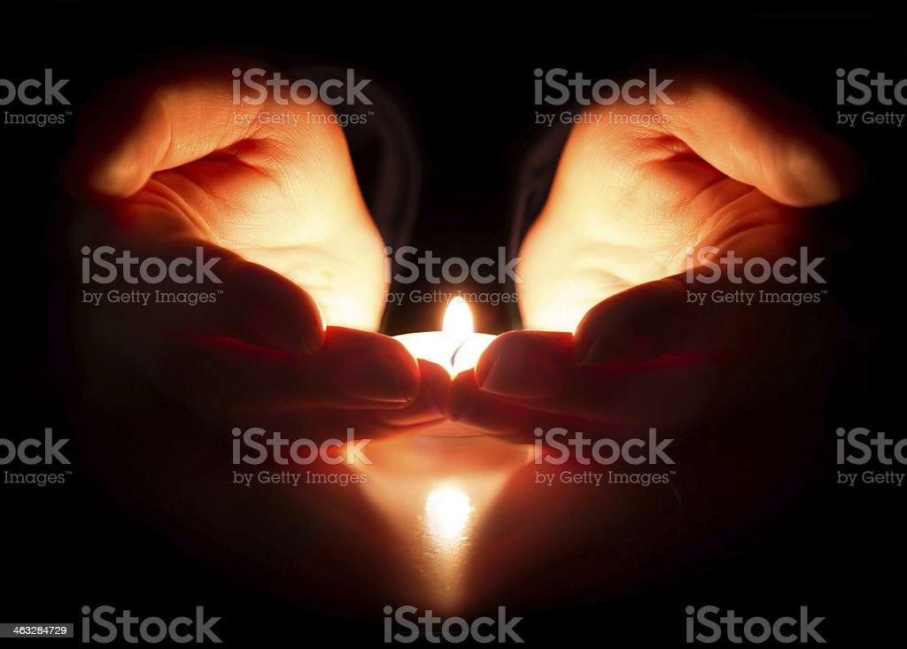 hope and prayer - faith is in the heart stock photo