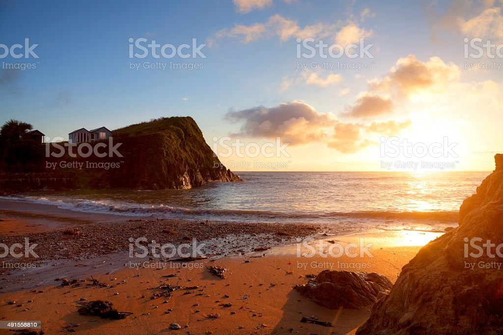 Hope Cove, Devon, England stock photo