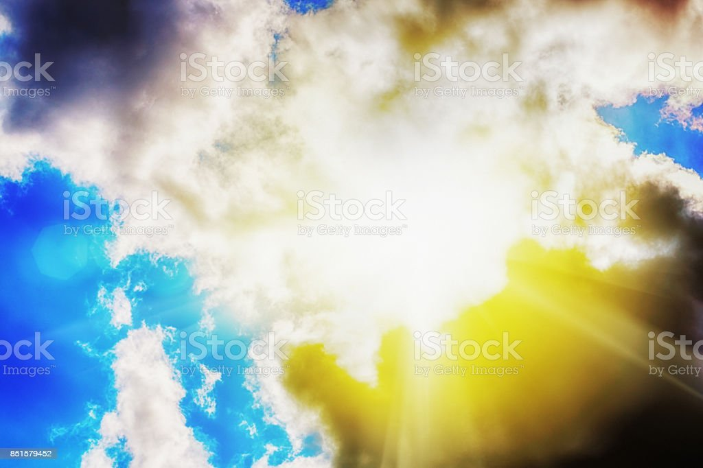 Hope: every cloud has a silver lining stock photo