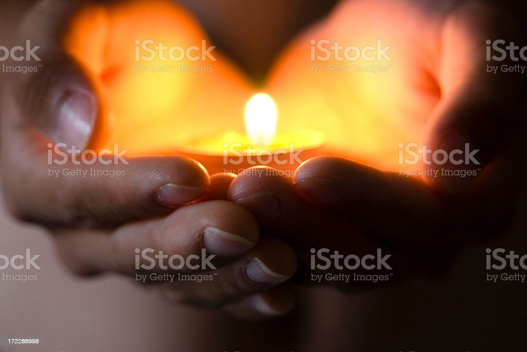 Hope illuminates stock photo