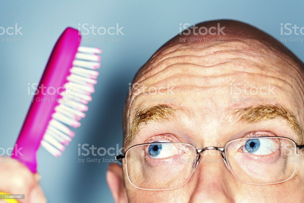Hope it's true that women find bald men sexy! stock photo