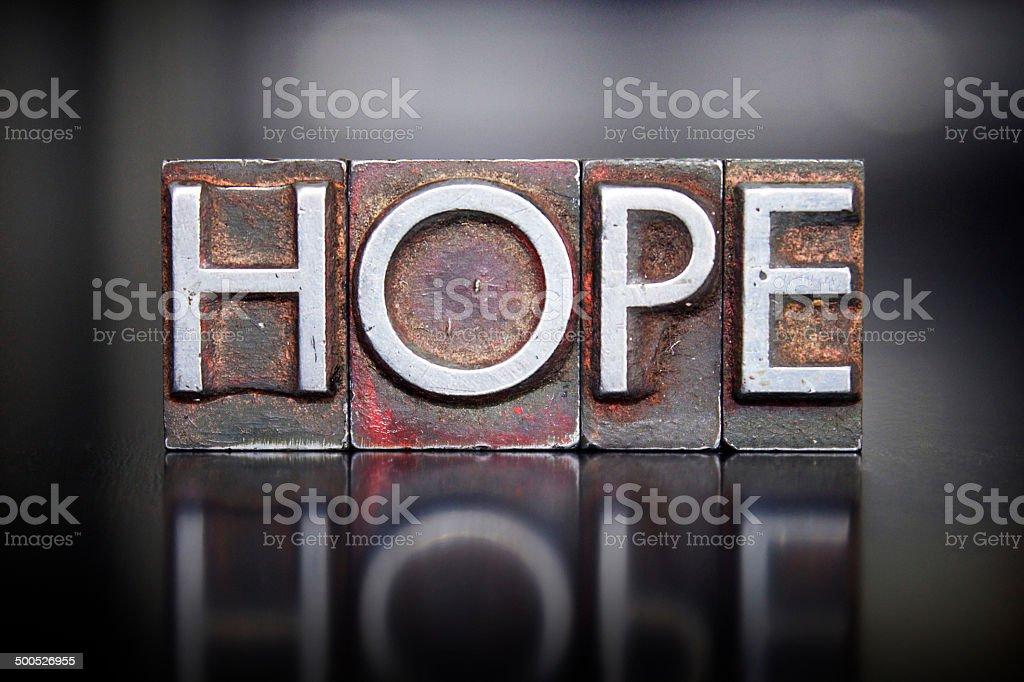 Hope Letterpress stock photo