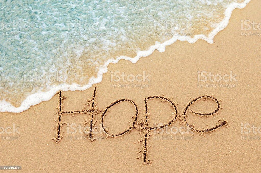 Hope message stock photo