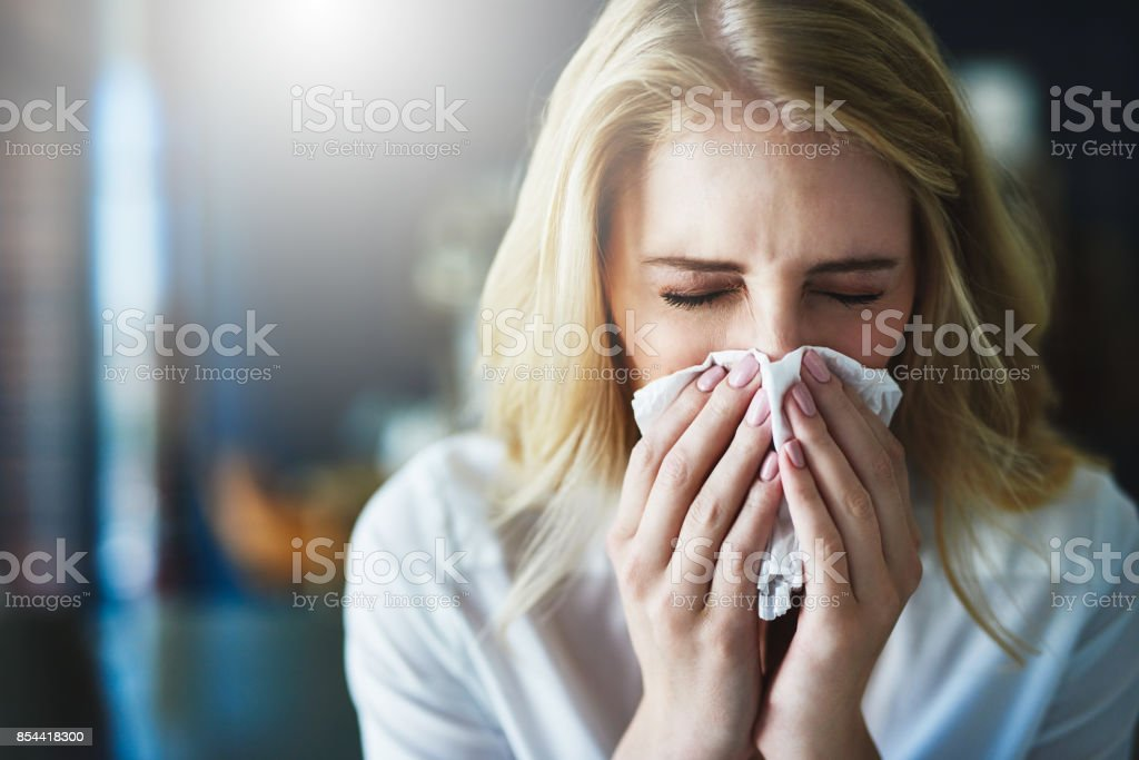 I hope this flu goes away quickly - foto stock