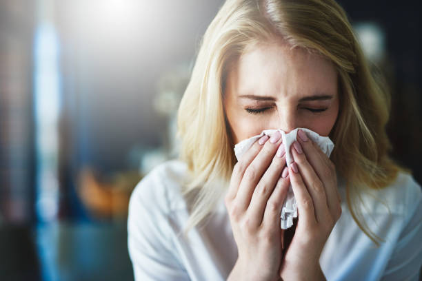 I hope this flu goes away quickly stock photo
