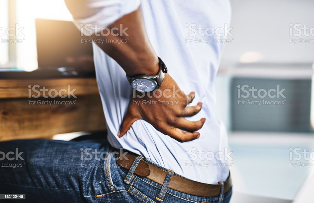 Hope this pain isn't going to bother me too much stock photo