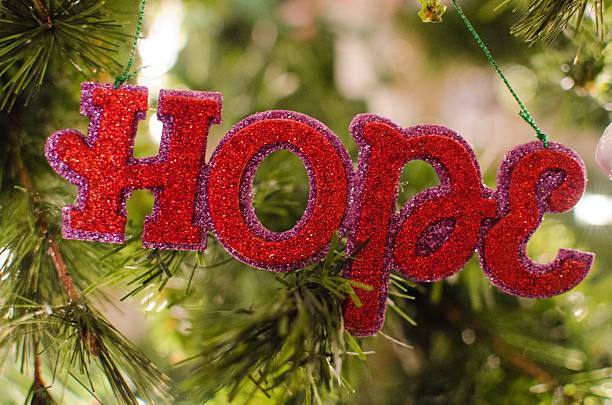 Hope Tree Ornament stock photo