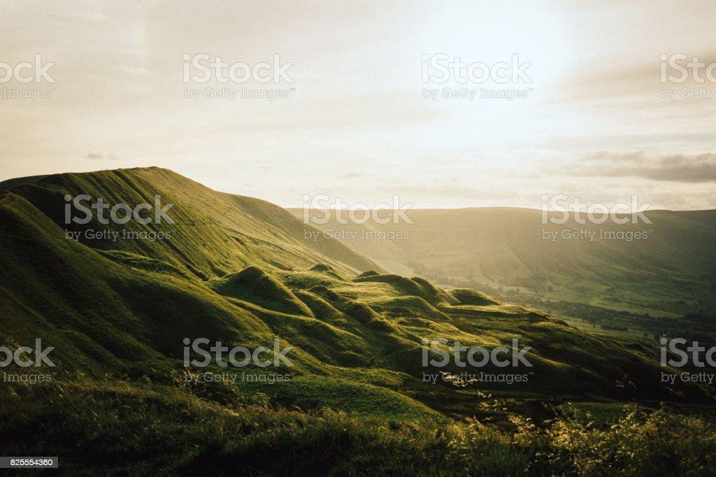 Hope Valley Sunset stock photo