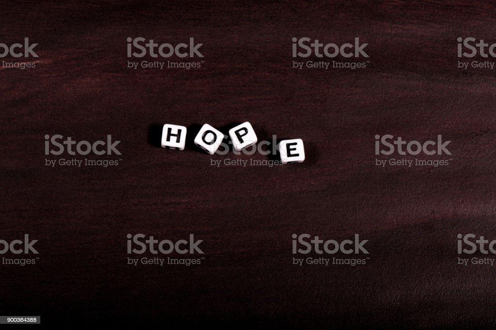 Hope Word stock photo